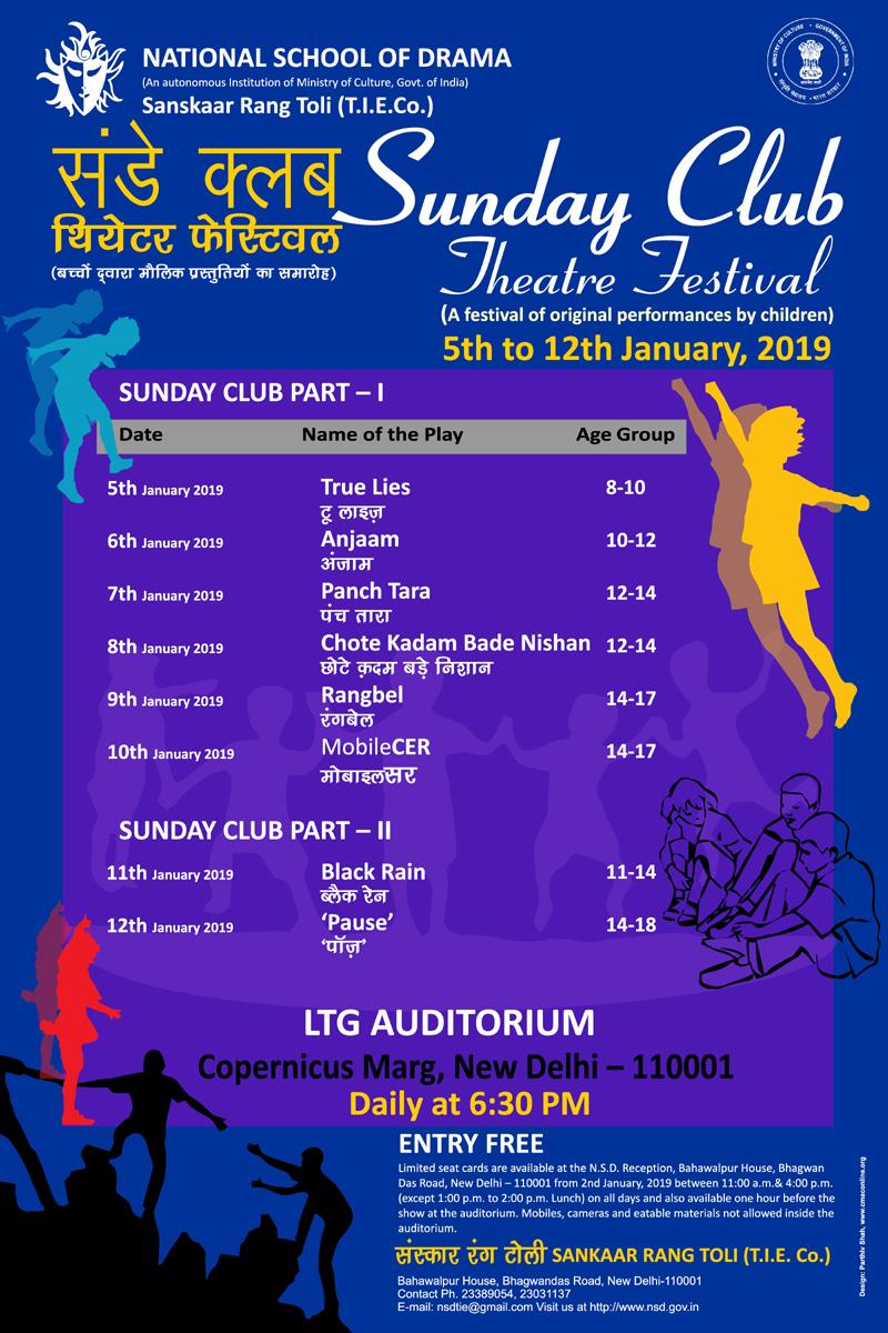 Sunday Club TIE Timetable