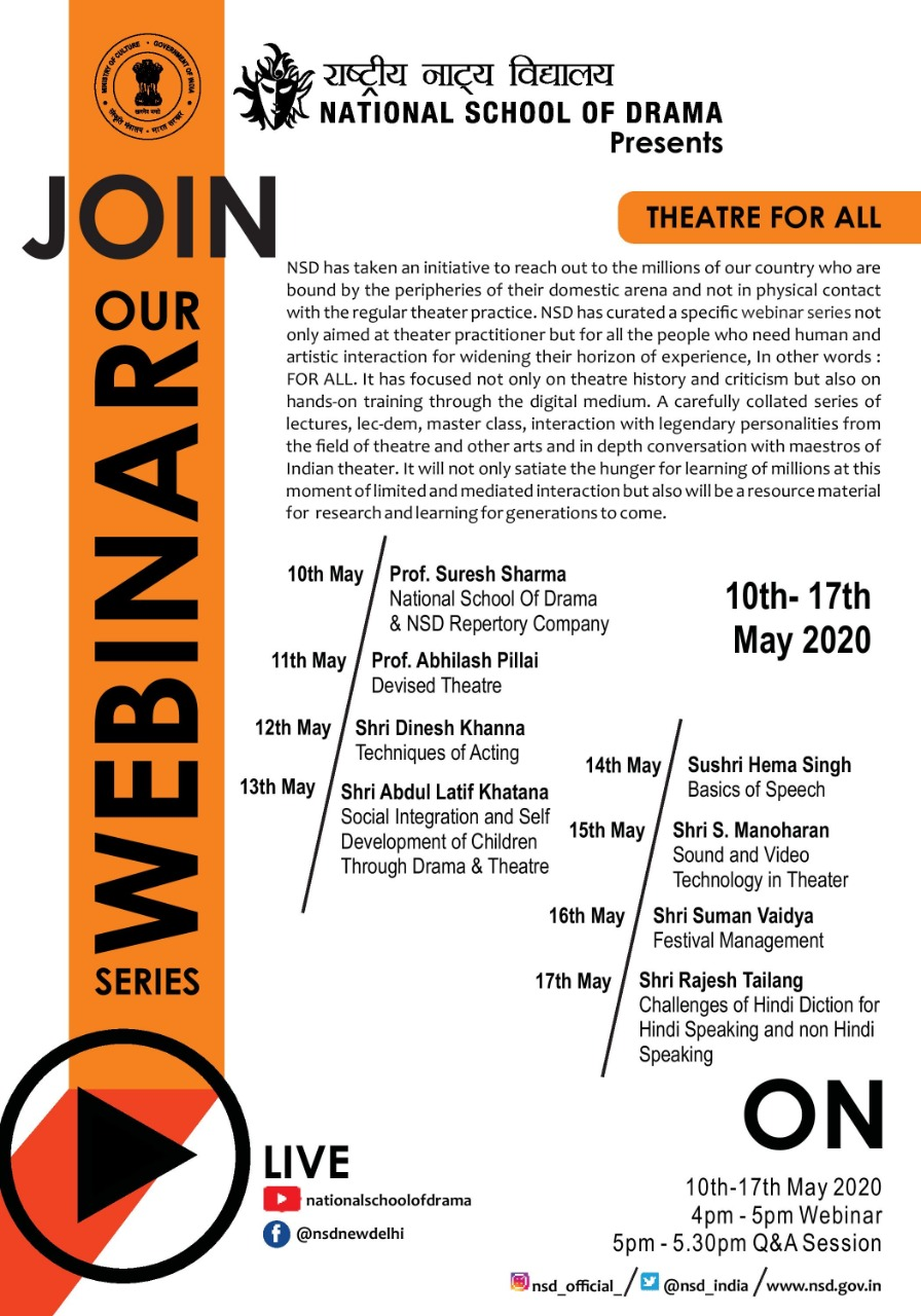 Webinar Series - Theatre For All
